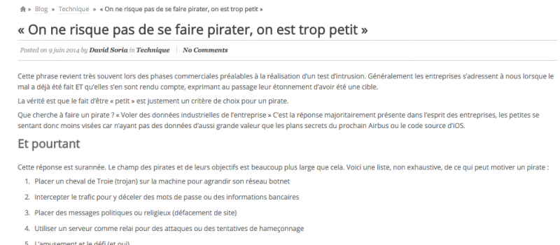 Site Itrust article piratage